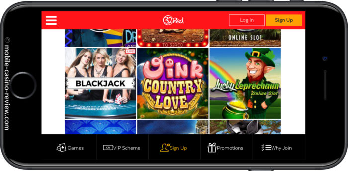 Mobile Casino Review - 32Red Mobile Casino - Game Selection
