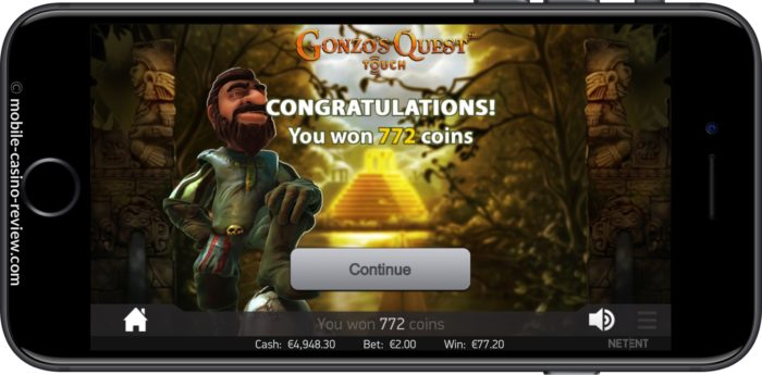 MobileCasinoReview_GonzosQuest_Slot_FreeSpinWin