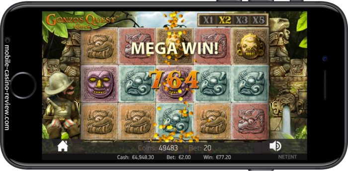 MobileCasinoReview_GonzosQuest_Slot_MegaWin