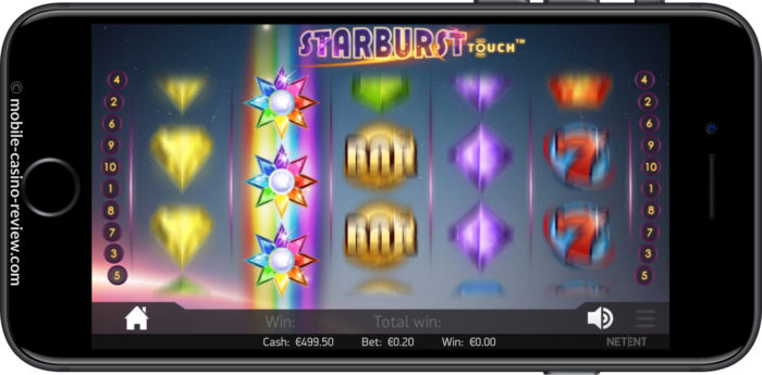 MobileCasinoReview_Starburst_MainScreenSpin