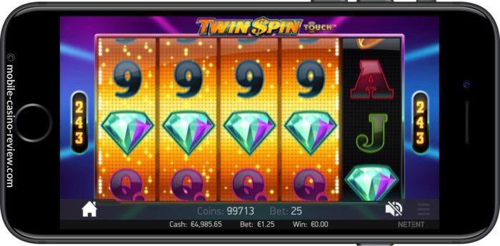 Twin Spin Slot - 4 Reel Win