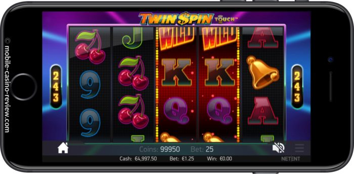 Twin Spin Slot - Mobile Version Horizontal