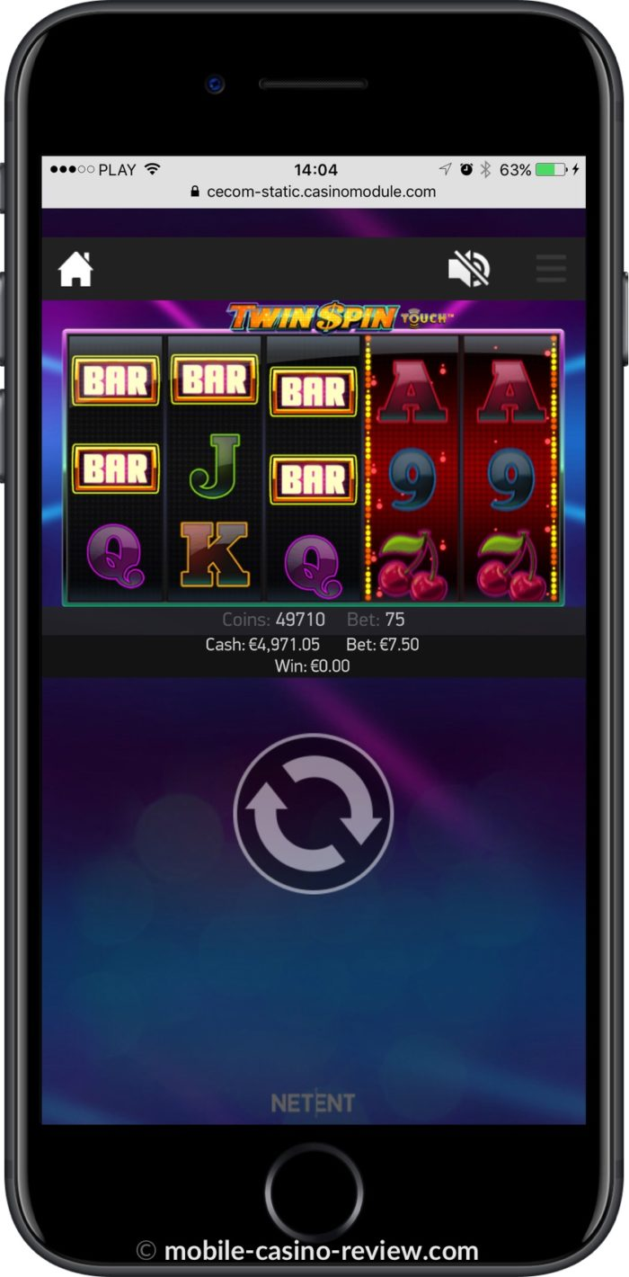 Twin Spin Slot - Mobile Vertical Mode