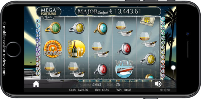 MobleCasinoReview - Mega Fortune Touch Slot _ Main Screen Horizontal
