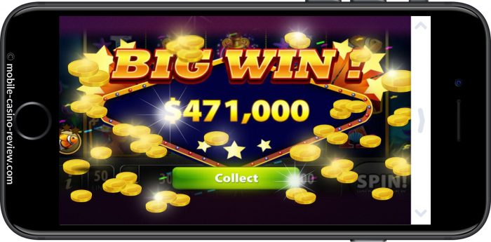Big Win Screen on Mobile Slots - Mobile Casino Review.com