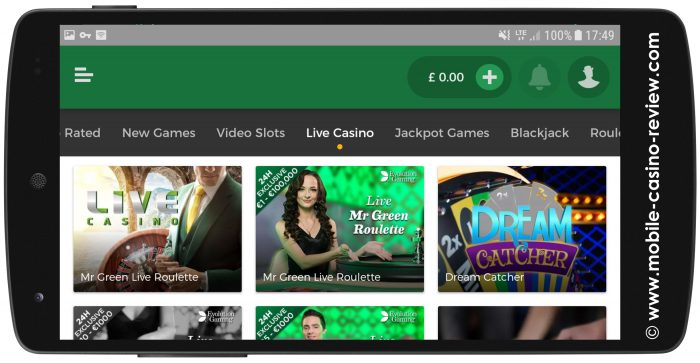 Mobile-Casino-Review_MrGreen_MobileLiveRoulette_Lobby