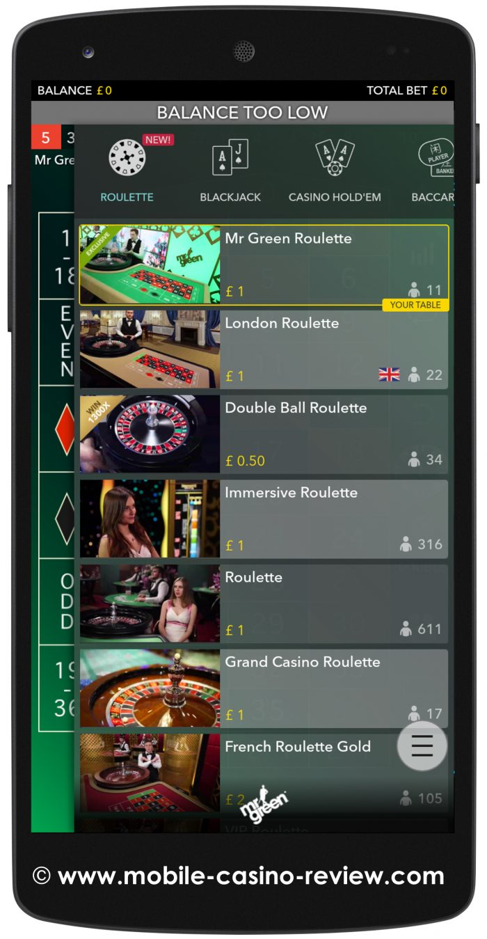 Mobile-Casino-Review_MrGreen_MobileRoulette_TableSelection